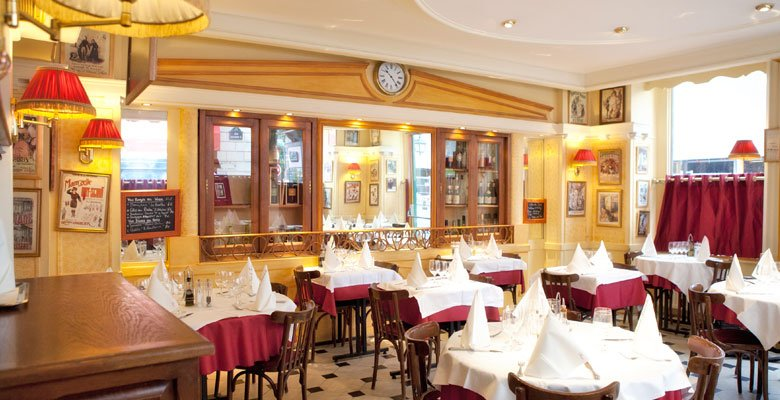 Repas entreprise devant l'Opera Comique (Paris 2) restaurant groupe Paris 2