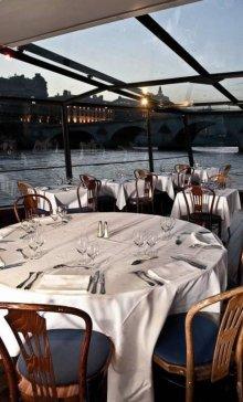 Marina de Paris Diner 2d service Menu Saveurs Gold