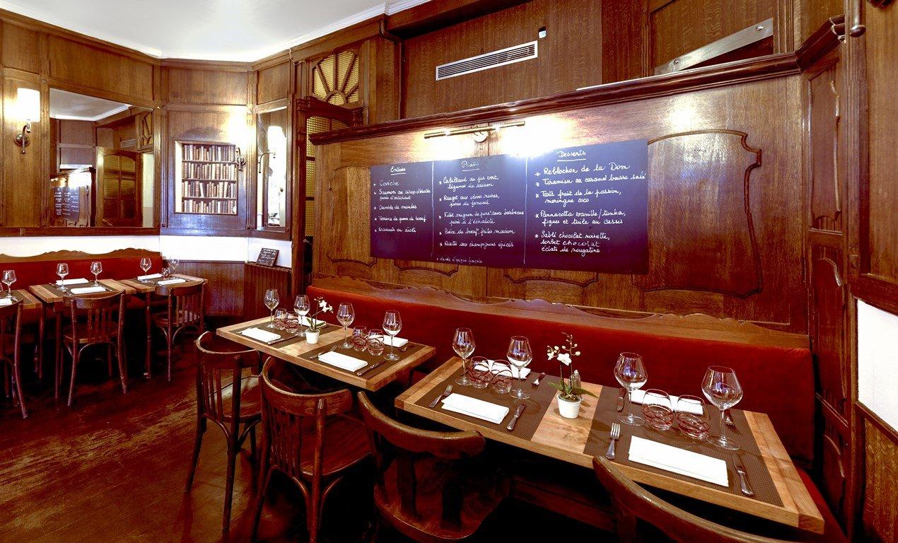 Repas d'entreprise dans un bistrot Parisien du 15ème arrondissement restaurant groupe PARIS 15 75