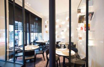 Repas d'entreprise dans un décor contemporain élégant de la rive gauche restaurant groupe Paris 6