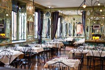 Repas entreprise dans un restaurant décoré Art Nouveau près de St Michel restaurant groupe PARIS 6 75