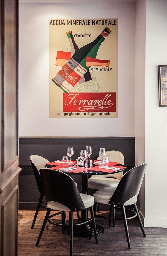 Repas entreprise dans une brasserie italienne haut de gamme du 16ème arrondissement restaurant groupe Paris 16
