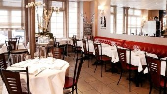 Repas entreprise dans un restaurant à l'ambiance d'antan restaurant groupe Paris 15
