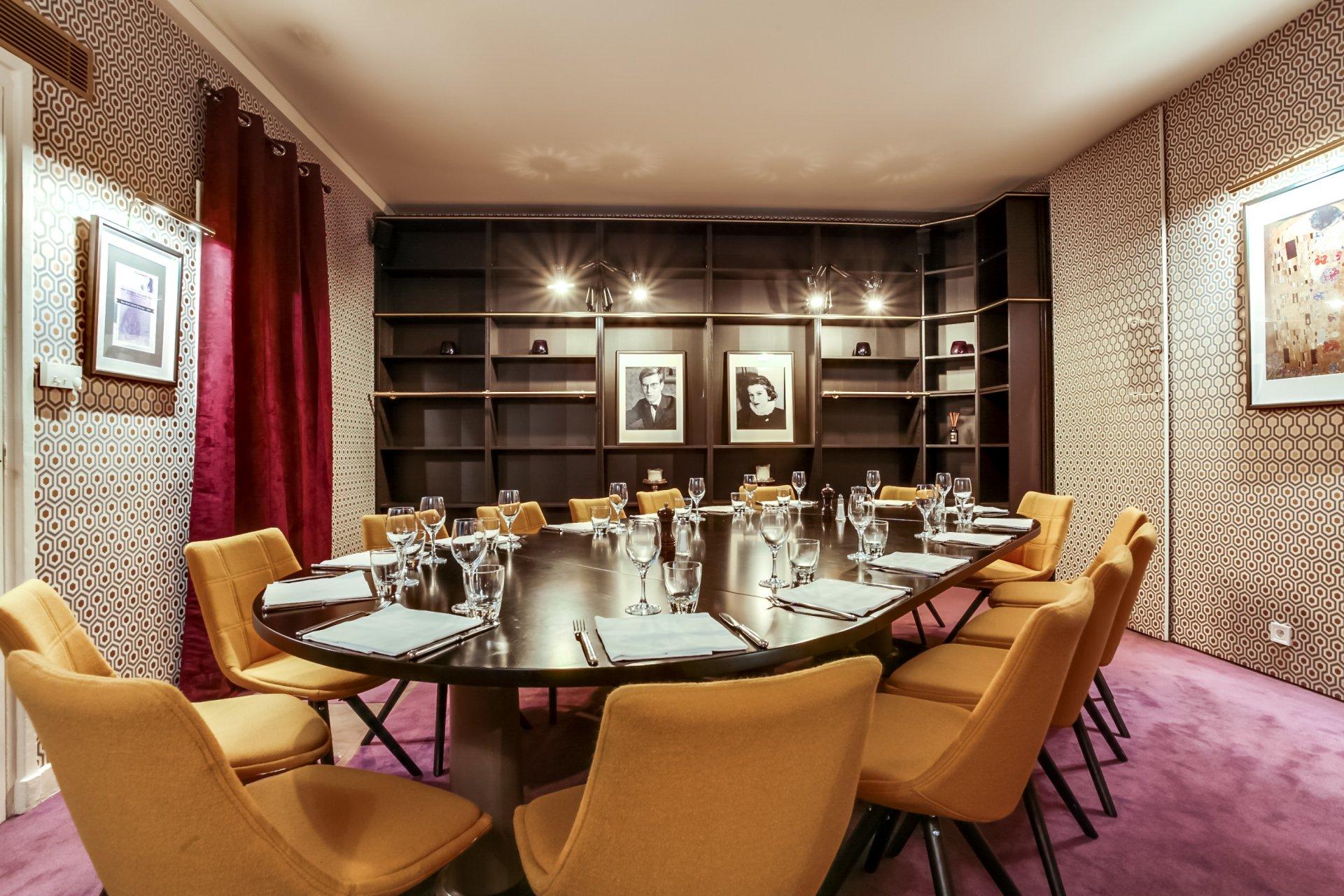 Repas entreprise près des Champs Elysées restaurant groupe Paris 8